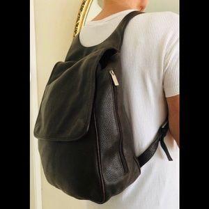 Ellington Pebbled Brown Leather Backpack Purse Bag